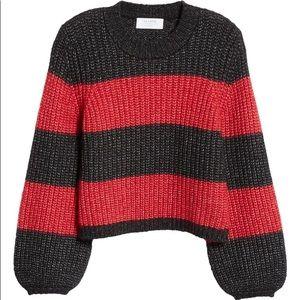 La Ligne Knit Alpaca Wool Balloon Sleeve Sweater